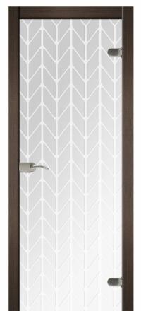 Межкомнатная дверь Дариано Шотландка стеклянная