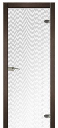 Межкомнатная дверь Дариано Вельвет стеклянная