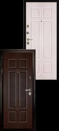 Металлическая входная дверь Сударь МД 07 венге-беленый дуб