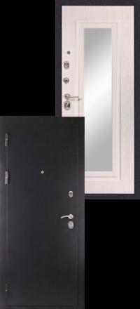 Металлическая входная дверь Сударь МД 26 серебро с зеркалом