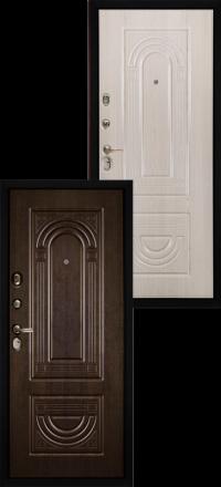 Металлическая входная дверь Сударь МД 32 венге-беленый дуб