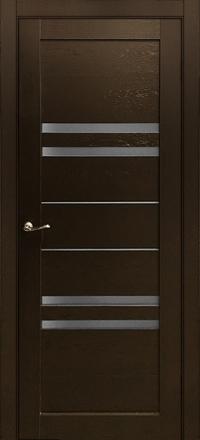 Межкомнатная дверь Porta Bella Экошпон Агата М черный бархат остекленная
