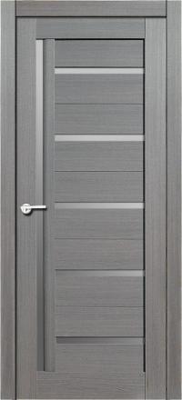 Межкомнатная дверь Porta Bella Экошпон Дана амарант серый остекленная
