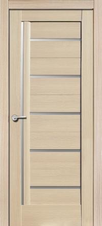 Межкомнатная дверь Porta Bella Экошпон Дана самшит белый остекленная