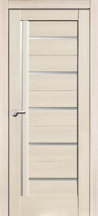 Межкомнатная дверь Porta Bella Экошпон Дана кремовая лиственница остекленная