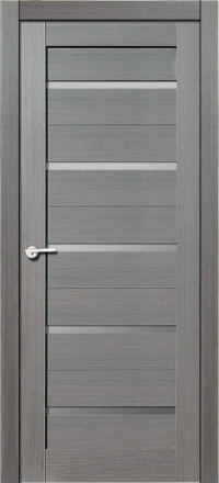 Межкомнатная дверь Porta Bella Экошпон Модерн амарант серый остекленная