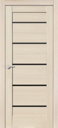 Межкомнатная дверь Porta Bella Экошпон Модерн самшит белый остекленная