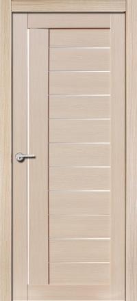 Межкомнатная дверь Porta Bella Экошпон Палермо М самшит белый остекленная