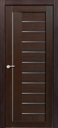 Межкомнатная дверь Porta Bella Экошпон Палермо М черный бархат остекленная
