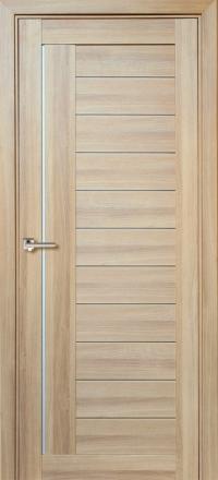 Межкомнатная дверь Porta Bella Экошпон Палермо М кремовая лиственница остекленная
