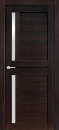 Межкомнатная дверь Porta Bella Экошпон Соренто М черный бархат остекленная