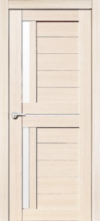 Межкомнатная дверь Porta Bella Экошпон Соренто М кремовая лиственница остекленная
