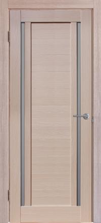 Межкомнатная дверь Porta Bella Экошпон Стелла самшит белый остекленная