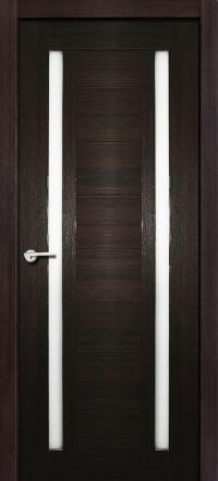 Межкомнатная дверь Porta Bella Экошпон Стелла черный бархат остекленная
