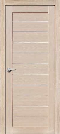 Межкомнатная дверь Porta Bella Экошпон Тефея самшит белый остекленная