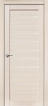 Межкомнатная дверь Porta Bella Экошпон Тефея кремовая лиственница остекленная