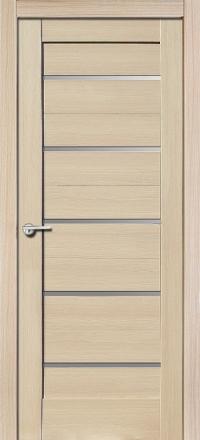 Межкомнатная дверь Porta Bella Nano Шпон Модерн акация остекленная
