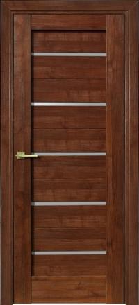 Межкомнатная дверь Porta Bella Nano Шпон Модерн шоколад остекленная