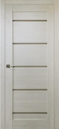 Межкомнатная дверь Porta Bella Nano Шпон Модерн жемчуг остекленная