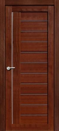 Межкомнатная дверь Porta Bella Nano Шпон Палермо М шоколад остекленная