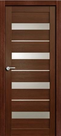 Межкомнатная дверь Porta Bella Nano Шпон Сатурн М шоколад остекленная