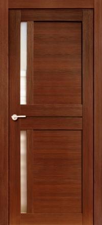Межкомнатная дверь Porta Bella Nano Шпон Соренто М шоколад остекленная