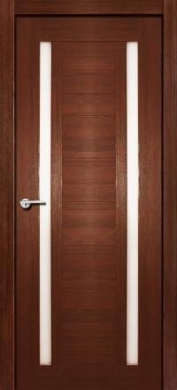 Межкомнатная дверь Porta Bella Nano Шпон Стелла шоколад остекленная