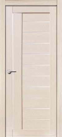 Межкомнатная дверь Porta Bella Эко Flex Палермо М кремовая лиственница остекленная