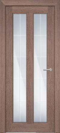Межкомнатная дверь Porta Bella Эко Premium Эллада ясень дымчатый остекленная