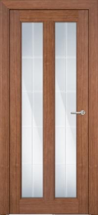 Межкомнатная дверь Porta Bella Эко Premium Эллада орех светлый остекленная