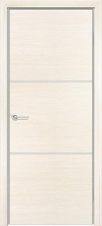 Межкомнатная дверь Содружество экошпон Q-1 Беленый дуб стекло лакобель белое