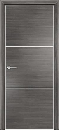 Межкомнатная дверь Содружество экошпон Q-1 Серый стекло лакобель белое