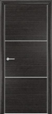 Межкомнатная дверь Содружество экошпон Q-1 Венге стекло лакобель белое