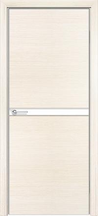 Межкомнатная дверь Содружество экошпон Q-2 Беленый дуб стекло лакобель белое