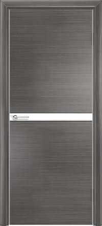 Межкомнатная дверь Содружество экошпон Q-2 Серый стекло лакобель белое