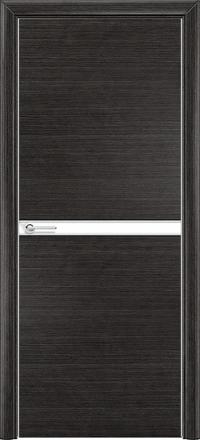 Межкомнатная дверь Содружество экошпон Q-2 Венге стекло лакобель белое