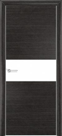 Межкомнатная дверь Содружество экошпон Q-5 Венге стекло лакобель белое