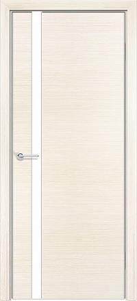 Межкомнатная дверь Содружество экошпон Q-7 Беленый дуб стекло лакобель белое