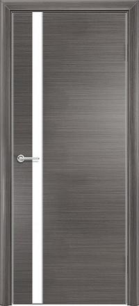 Межкомнатная дверь Содружество экошпон Q-7 Серый стекло лакобель белое