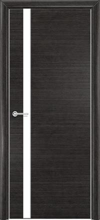 Межкомнатная дверь Содружество экошпон Q-7 Венге стекло лакобель белое