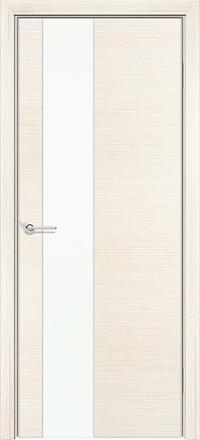 Межкомнатная дверь Содружество экошпон Q-8 Беленый дуб стекло лакобель белое