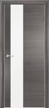 Межкомнатная дверь Содружество экошпон Q-8 Серый стекло лакобель белое