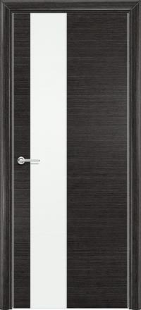 Межкомнатная дверь Содружество экошпон Q-8 Венге стекло лакобель белое