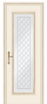 Межкомнатная дверь Дариано Родос Слоновая кость со стеклом