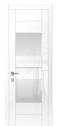 Межкомнатная дверь Дариано Шотти-2 Белый глянец со стеклом