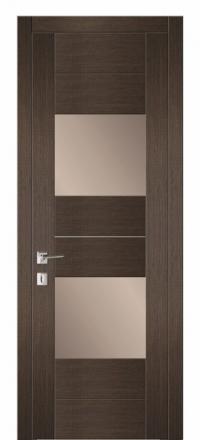 Межкомнатная дверь Дариано Шотти-2 Бренди со стеклом