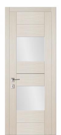 Межкомнатная дверь Дариано Шотти-2 Латте со стеклом