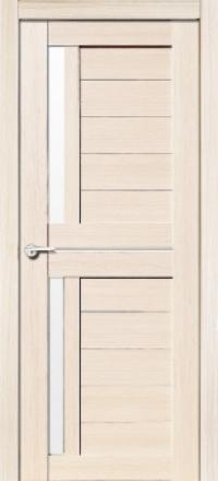 Межкомнатная дверь Porta Bella Эко Flex Соренто М кремовая лиственница остекленная