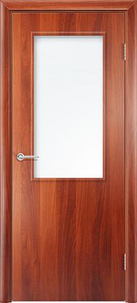 Межкомнатная дверь Содружество Стандарт итальянский орех со стеклом
