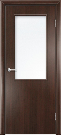 Межкомнатная дверь Содружество Стандарт венге со стеклом